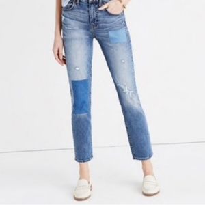 Madewell Cruiser Straight Patchwork Jeans 26